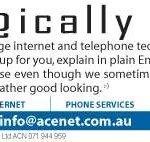 ace internet print ad
