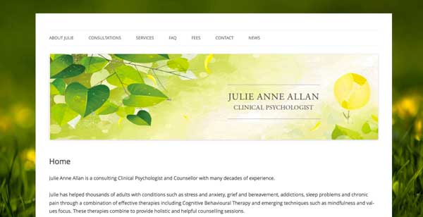 Julie Anne Allan website