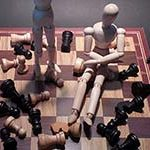 messy chessboard