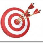 Retargeting target board with arrows