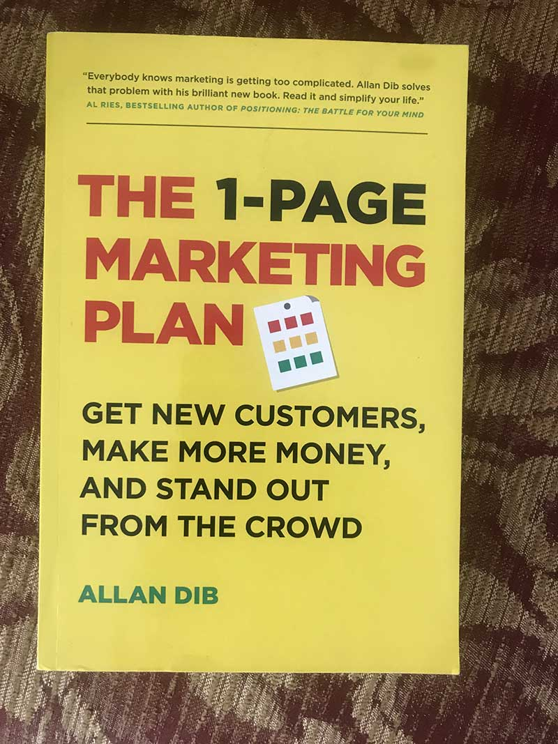 1 page marketing plan book cover