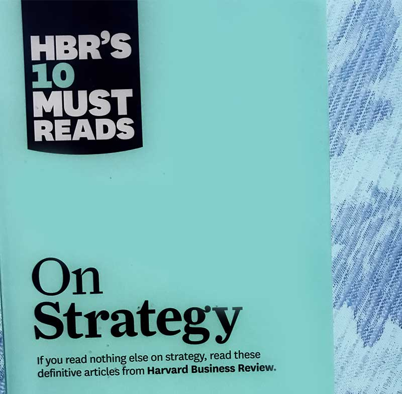HBR On Strategy book cover made infrared