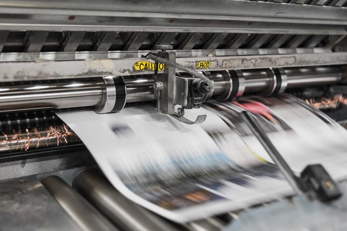 magazine rolling off press