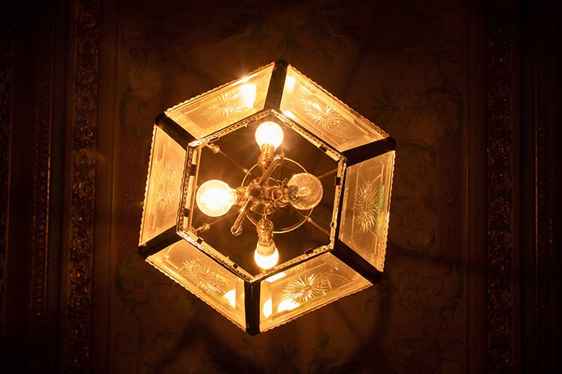 ceiling lights in hexagon